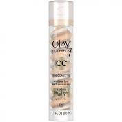 Olay CC Cream - Total Effects Tone Correcting Moisturiser with Sunscreen Broad Spectrum SPF 15 - Light to Medium, 1.7 Fluid Ounce