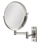 OVW45 Zadro Two-Sided Dual-Arm Wall Mount Mirror with 1x & 5x Magnification