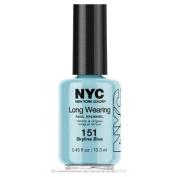 NYC New York Colour Long Wearing Nail Enamel, 151 Skyline Blue, 15ml