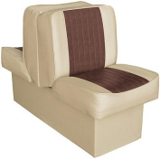 Wise Deluxe Embossed Panel Back-to-Back 25.4cm Base Ski Boat Lounge Seat, Sand-Brown