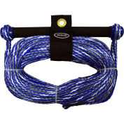 Rave Sport 75' 1 Section Ski and Tow Rope with NBR Smooth Grip Promo, Blue