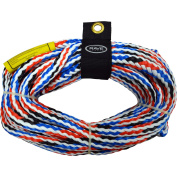 Rave Sport Ski and Tow Rope 1 Section 4 Rider Tow Rope, Red