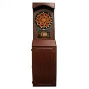 Tournament Style Free-Standing Cabinet With Arachnid Cricket Pro 800 Electronic Dartboard