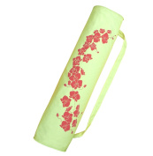 Wai Lana Soft Green Orchid Tote Bag with Coral Print