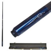 Metallic Blue Titanium Billiard Pool Cue Stick with Case