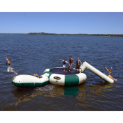 Rave Sports Bongo 4.6m Northwoods Water Trampoline with Slide and Launch