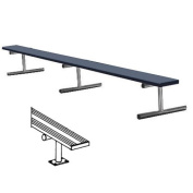 4.6m Surface Mount Bench without Back - Blue