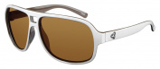 Ryders Eyewear Pint White Frame Sunglasses, Brown Lens