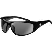 Ryders Eyewear Dune Polarised Black Frame Sunglasses, Silver Lens