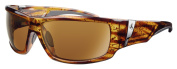 Ryders Eyewear Bison Brown Frame Sunglasses, Gold Lens