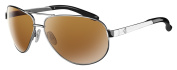 Ryders Eyewear Mig Polarised Chrome Frame Sunglasses, Brown Lens