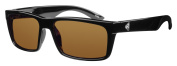 Ryders Eyewear Hillroy Polarised Black Frame Sunglasses, Brown Lens