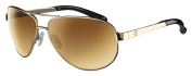 Ryders Eyewear Mig Polarised Gold Frame Sunglasses, Gold Lens