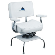 Wise Swivelling Fighting Chair with Portable Removable Stand and Rod Gimbal, White