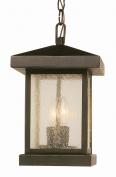 Transglobe 45643 WB Hanging Lantern - Weather Bronze - 8W in.