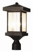 Transglobe 45644 WB Post Lantern - Weather Bronze - 8W in.
