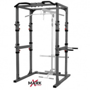 X-Mark Commercial Power Cage with Dip Station and Pull Up Bar