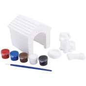 Quincrafts You Paint It Plaster Dog House Kit
