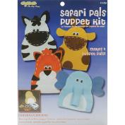New Image Group 465951 Value Felt Puppet Kit-Safari Pals