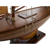 Authentic Models Victorian Pond Yacht Wooden Sailboat Model Boat 90cm