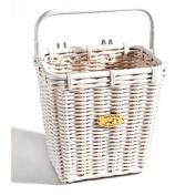 Nantucket Bike Basket Company Cruiser Collection Pannier Basket with Hooks
