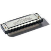 Hohner Hot Metal Harmonica in Chrome - Key of G