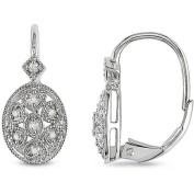 1/8 Carat T.W. Diamond Leverback Earrings in Sterling Silver