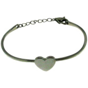 Connexions from Hallmark Stainless Steel Heart Bangle Bracelet
