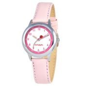 Red Balloon Kid's Stainless Steel Time Teacher Watch in Pink Leather