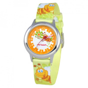 Red Balloon Kid's Buzzing Bees Time Teacher Printed Strap Watch in Green