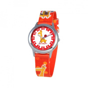 Red Balloon Kid's Jungle Animals Time Teacher Printed Strap Watch in Red