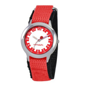 Red Balloon Kid's Stainless Steel Time Teacher Watch in Red