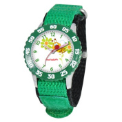 Red Balloon Kid's Buzzing Bees Time Teacher hook and loop Watch in Green
