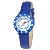 Red Balloon Kid's Stainless Steel Time Teacher Watch in Blue