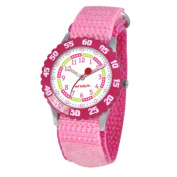 Red Balloon Kid's Stainless Steel Time Teacher Watch in Pink