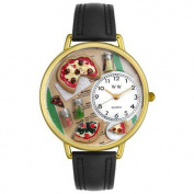Whimsical Watches Unisex Pizza Lover Watch in Gold