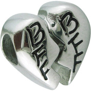 Connexions from Hallmark Stainless-Steel BFF Heart Charm