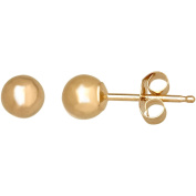 Simply Gold 14kt Yellow Gold 4mm Ball Stud Earrings