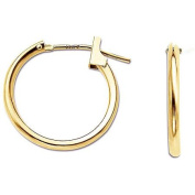 Simply Gold 14kt Yellow Gold 1.5mm x 15mm Hoop Earrings