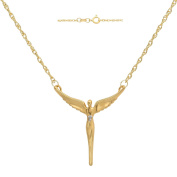 Lavaggi 18kt Yellow Gold over Sterling Silver Angel of Reconciliation Necklace, 45.7cm