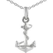 Brinley Co. Sterling Silver Anchor Pendant, 45.7cm