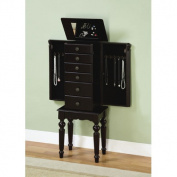 Powell Furniture Antique Black Petite Ebony Jewellery Armoire
