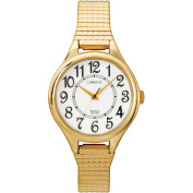 Carriage by Timex Women's Gold-Tone Watch, Stainless Steel Expansion Band
