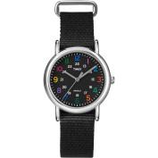 Timex Women's Weekender Watch, Black Nylon Strap