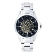 Elgin Men's Skeleton Stainless Steel Automatic Watch