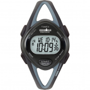 Timex Women's Ironman Sleek 50-Lap Black Watch, Resin Strap