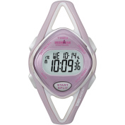 Timex Women's Ironman Sleek 50-Lap Pink/Silver-Tone Watch, Resin Strap