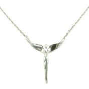 Lavaggi Sterling Silver Angel of Reconciliation Pendant, 45.7cm