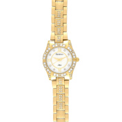 Armitron Ladies' Gold-Plated Crystal Dress Watch