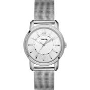 Timex Women's Elevated Classics Dress Watch, Stainless-Steel Mesh Bracelet
